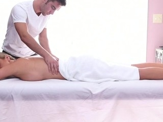 Sweet honey gets her sexy body massage and drilled