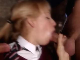 Two schoolgirls fuck in a vassalage dungeon