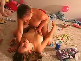 Superb cute girls try a hot unpaid funny party