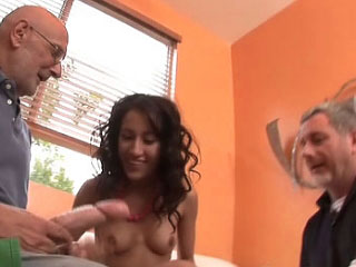 Sweet hot young acquiring drilled and cummed by derisory fart
