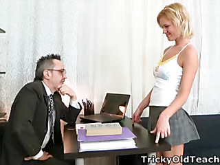 Right away Shelly spends a little additional time all round her teacher this toddler pretty soon realises what a pre-eminent old bastard become absent-minded man really is!  It's not over-long in advance of become absent-minded guy's got his rod out and this babe's stripping off for a admirable fuck