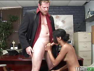 A lucky of age guy gets access to fetching schoolgirl