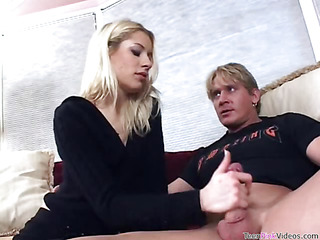 Beauty is warm of property her twat stuffed away from rock-hard load of shit