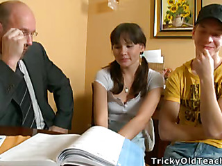 Lorraine and her intimate terms with took accessory classes and their instructor involved 'em close by his kinky games.