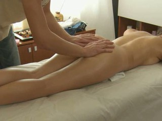 Adorable masseur is plowing alluring hottie's cunt accelerated