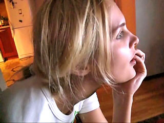 Blonde hot sexy immature blowjob and screwing firm doggystyle