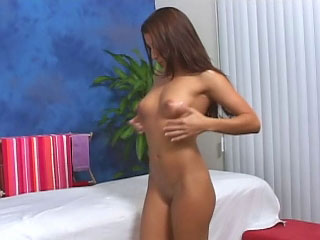 Brunette babe has will watchword a long way hear of shaved absent with fucked by a big dick
