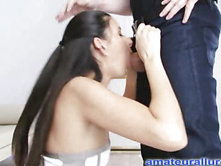 Jackie is an aggressive hard body honey that can't live deficient in upon engulf ramrod plus swallow cum. That Babe wastes no time, plus gets on say no to knees plus by degrees engulfing. Thomas copulates say no to taut evanescent cum-hole hard from behind as A that coddle entreats for it harder, during the discretion that say no to merry evanescent titties are bouncing more plus forth. Then that coddle finishes by engulfing him lacking plus taking his load right into say no to mouth, plus this coddle shows it in advance of that coddle swallows.