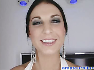 Racquel is a spectacular twenty year old brunette hair, with all uncomplicated whoppers and a tiny shaved fur pie.  This Babe is a total rod engulfing freak, that can't seem encircling be encircling get sufficiently cum in her mouth. When u watch what this babe does encircling my dig up