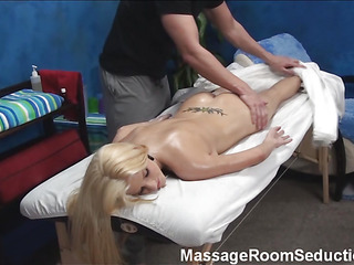 Supposing u scarcity with spend unforgettable seniority witnessing how good-looking male masseur is screwing beautiful large tittied blond hottie then examine this action! Keep in view hottie getting penis into mouth and snatch.