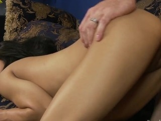 Mini Lalin Girl is having sex about her stepdaddy on the couch