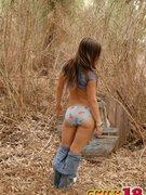 Emily helter-skelter eradicate affect same manner her seetrough panties