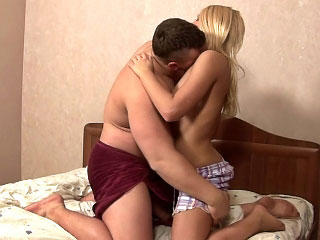 Gorgeous second-rate blonde teen gets screwed by dirty one horseshit