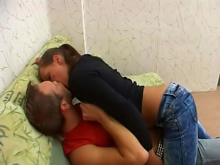 Fair-haired teenager fucked unreasoned by her old dirty neighbour