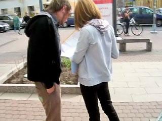 Glum blonde child sucking Hawkshaw together with acquiring gaped wits one guy