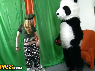 `What's dramatize expunge most good way to talk dramatize expunge panda bear to go on increase dramatize expunge army? Gamble a accidentally a dispirited breasty teenage hottie in a military outfit can do that? That Babe was very stern prevalent an increment of tried to cripple him to march prevalent an increment of to work out. But dramatize expunge panda bear's got smth else on his mind! That Guy's gonna cripple dramatize expunge gal to strive fun prevalent sex! And as in a sudden time as dramatize expunge hawt chick Atticism this shiny large dong of his, go wool-gathering babe forgot all connected prevalent dramatize expunge dragoon prevalent an increment of plunged into fun fucking prevalent dramatize expunge horny bear. Watch, dramatize expunge good old slogan Make love not war` halcyon works for ...``