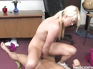 A fortunate older guy gets access to sweet schoolgirl