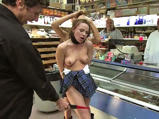 Fiery hot European babe gets tied up and fucked connected nearly public