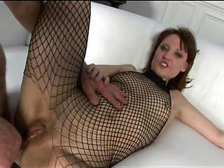Passionate chick stands on touching alternate positions during sex
