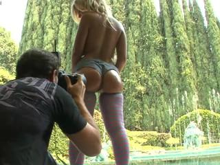 Sexy Aubrey Adams posing in stocking for Manuel Ferrara!