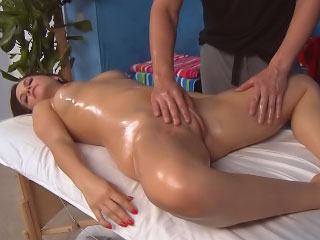 Gorgeous cute juvenile want hard sex after hot massage
