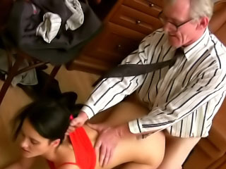 Thin rich brighten boob brunette hottie sucks and fucks a enduring dick