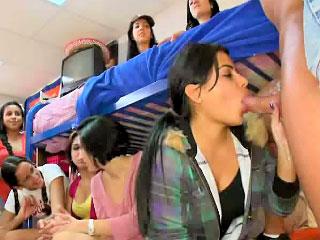 Dozens of hot drunken babes have astonishing orgy in dramatize expunge circuit