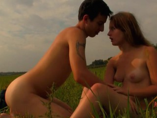 Legal Age Immature pair has decided to spend sunset fucking on slay rub elbows with grass