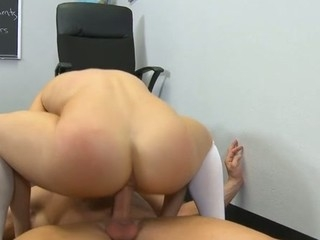 Schoolgirl gets a stormy hardcore fuck distance from her teacher