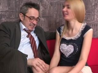 Old bus is ravishing sweet sweetheart's chaste vagina