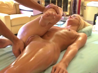 Hot crude tow-headed girl gets screwed by dirty bumptious dude