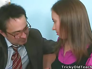 It's time to study, so Tania took off her pants and showed the teacher her wet and insatiable cunt available for hardcore fucking.